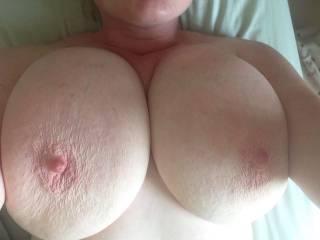 New friend has huge tits!