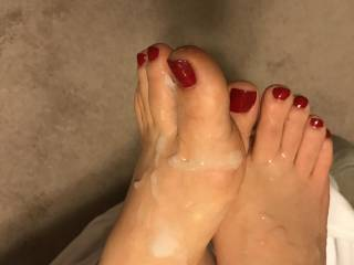 she asked me to pull out and cum all over her feet