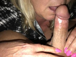 wife licking my dick