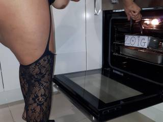 Cooking in lingerie is more fun, stripping off afterwork