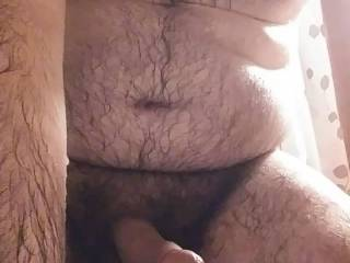 A horny, hairy bisexual bear ejaculating for the masses!