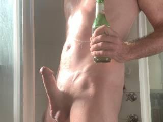 Love a shower beer after a HARD days work