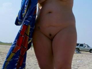 Finally got wife nude on the Beach