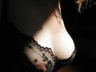 such nice creamy skin, love seeing that big nipple underneath