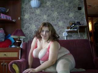 Girl loves to walk around the house naked.
