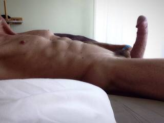 Oh FUCK!!! what a hot gorgeous body...and look at that beautiful cock...oh FUCK yes I'd ride it....I'd ride it several times a day....Mmmm, you are a beautiful man with a delicious cock. I want all of that cock inside my wet  silky pussy. I  could suck on your cock forever.   MILF K