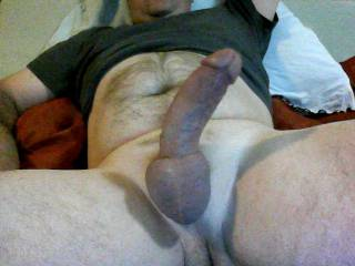oh yeah! would love to gag on your thick cock...see how much I can get down my throat!  hot pic!  love your hard thick cock