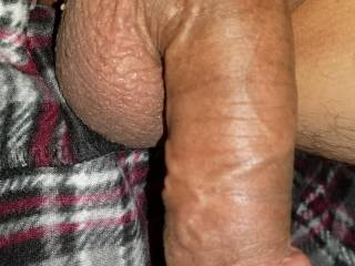 Big bald cock and balls