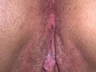 her open pussy.