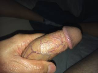 the cock with some vein showing