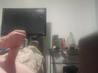 Jerking off after pumping