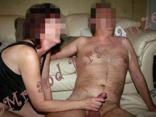 Very sexy couple and cock! Love to see you make him cum!