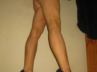 OMG....I want to pet and caress and kiss and lick your legs and ass.  Sooooo sexy.  Damn, call me.  I'll be right over.  Thanks for a turn on pic.  I'll be cumming for them.