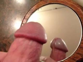 Nice cumshot....I love big cummers and I would have liked to have swallowed that load....mmmmm...don't just let the ladies have all the fun, I am a married bi guy who likes cum.