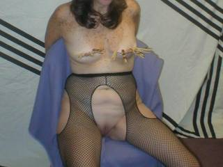 Tied wife tit torture