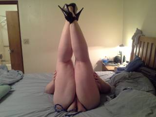 Very sexy legs love to have them wrapped around my head mmm