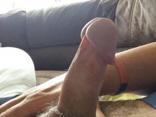 My erect cock waiting to unload