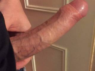 That is a lovely cock, love the image of the head bursting free from from the foreskin.
