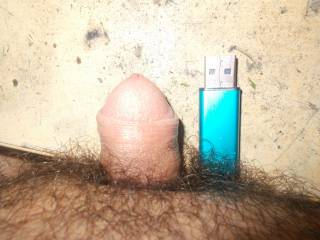comparing my tiny dick with usb