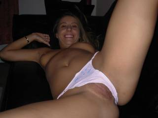 What an inviting photo, I'd love to eat that pussy until you came so hard that you wrapped your legs around my head and tried to stop me from breathing so I would quite making you cum....  But that wouldn't work I'd just keep right on licking that beautiful pussy, because... iluv2eatpussy  ;-D