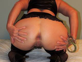 Bending over and spreading my cheeks just for you!