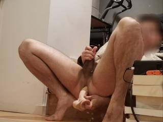 I finally figured how to ejaculate while dildoing my asshole. You have to squeeze your kegels. I've always preferred anal without keegal, what I enjoy the most is the in-&-out sensation, my sphincter getting pulled and pushed