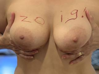 What do you think of her tits?  She wants to know how many likes she can get?