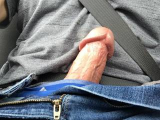Was texting with my friend and she got me hard and horny. So I had to get comfortable while driving.
