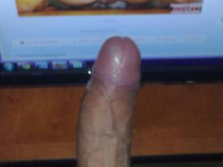 I really love that hard cock.  I'd love to suck on it.  K