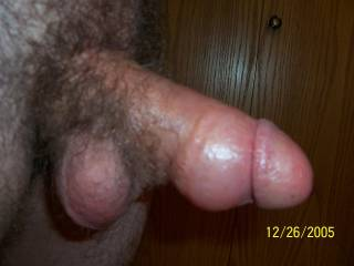 This is my limp dick one hour after pumping my cock.  Still pretty fat, huh?