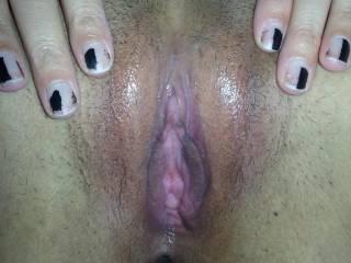 Ashley spreading her pussy.