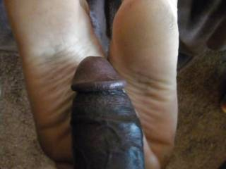 Wish that was my cock on your feet