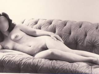 Beautiful shot. I'd love to get naked on stretch out on that couch with her.