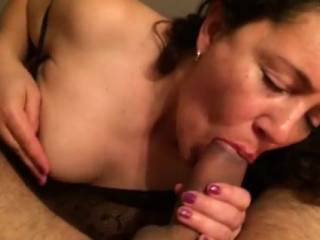 what a delicious woman....delicious cock sucker