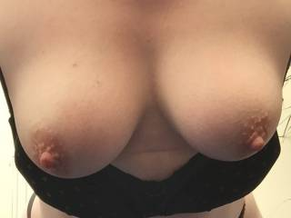 Stunning....and I wish you were letting them dangle over my waiting smiling lips eager to suck, lick, flick and tease those stunners! Gorgeous!!!