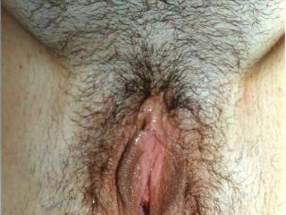 me spreading for your inspection and comments. see all my pussy juice flowing