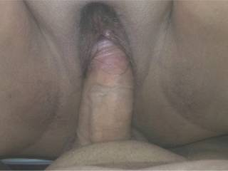 Big Nancy spread wide open as my cock slowly enters her tight pussy