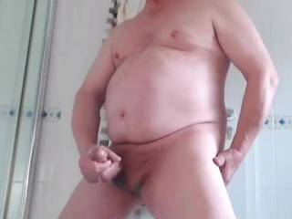 Solo wanking and jerking in the bathroom