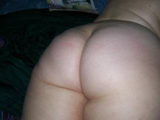 An ass that nice needs a couple of men fucking it!  How about I help hubby fuck her and prove to her that her ass is just the right size!