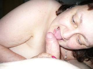 mmmm one of many  guys ,she loves the cock in her mouth?
