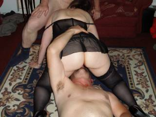 Me and my mate takes this milf for a good go over i lick her clit and pussy, shes sucks his cock