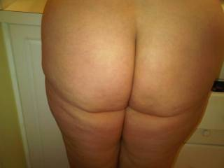 One of my lady friends let me take this pic of her big soft sexy ass...naked for your viewing pleasure!