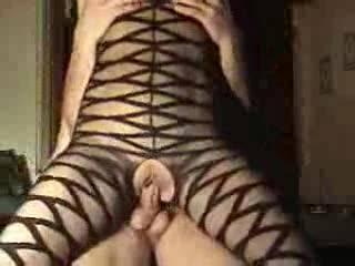 damn luv that sexy body stocking, what a nut cracker you are,luv it