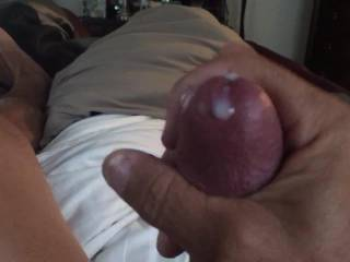 Just thinking about the hot sex I had an hour earlier before the wife left for work.... Made me even hornier! About out of juice!