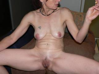 absolutely perfect pussy. i just love them lips big and swollen. you turn me on so so much. not to speak of your wonderful big titties. just love them too. you are so sexy and hot