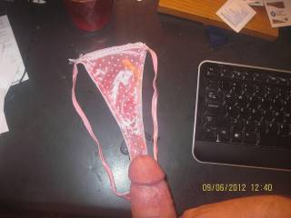 cumming on sexy shiny pink panties , they belong to a special friend!!!