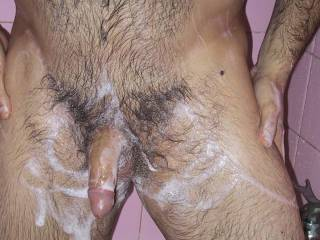 Wow!! Love all that body hair. Would enjoy running my fingers through it and working my way down to play with your cock.