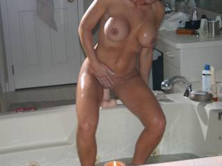 You're absolutely GORGEOUS!!!! Love your slim body and big tits!! Love that smooth pussy!!