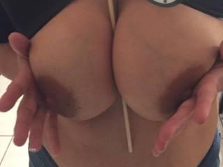 Soooo suckable tits !! Looooove !!