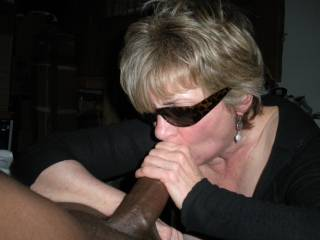 You look great sucking cock too. I'd love to hear you gag over and over again as you suck and deep throat a cock.